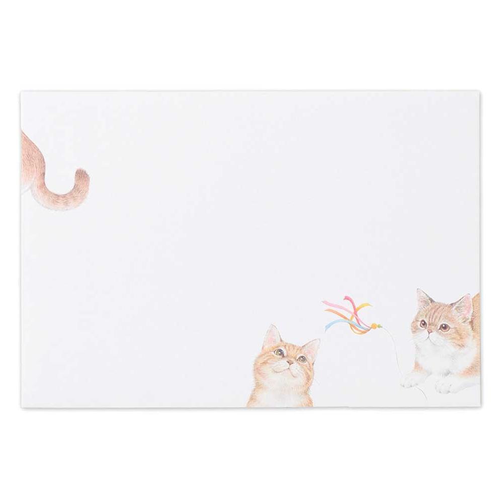 猫封筒(まったりネコ)