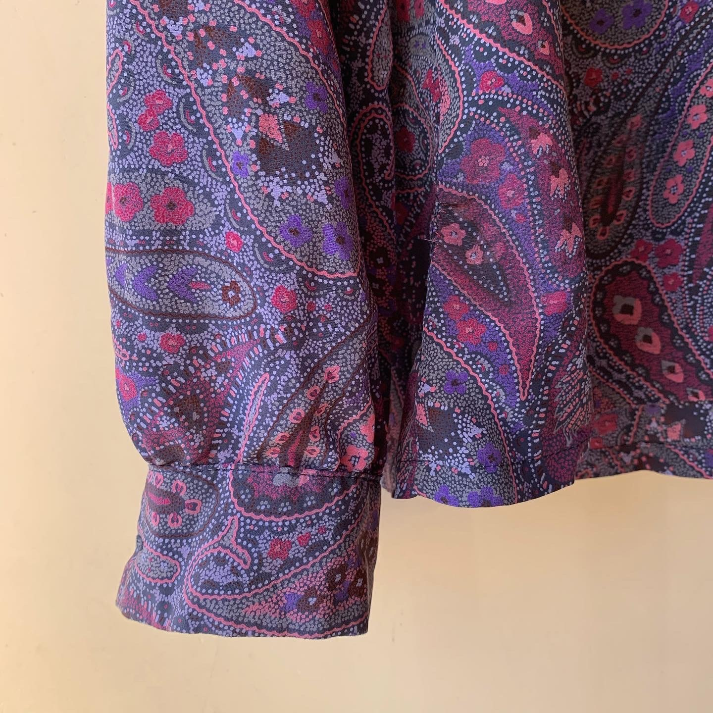 vintage paisley silk tops