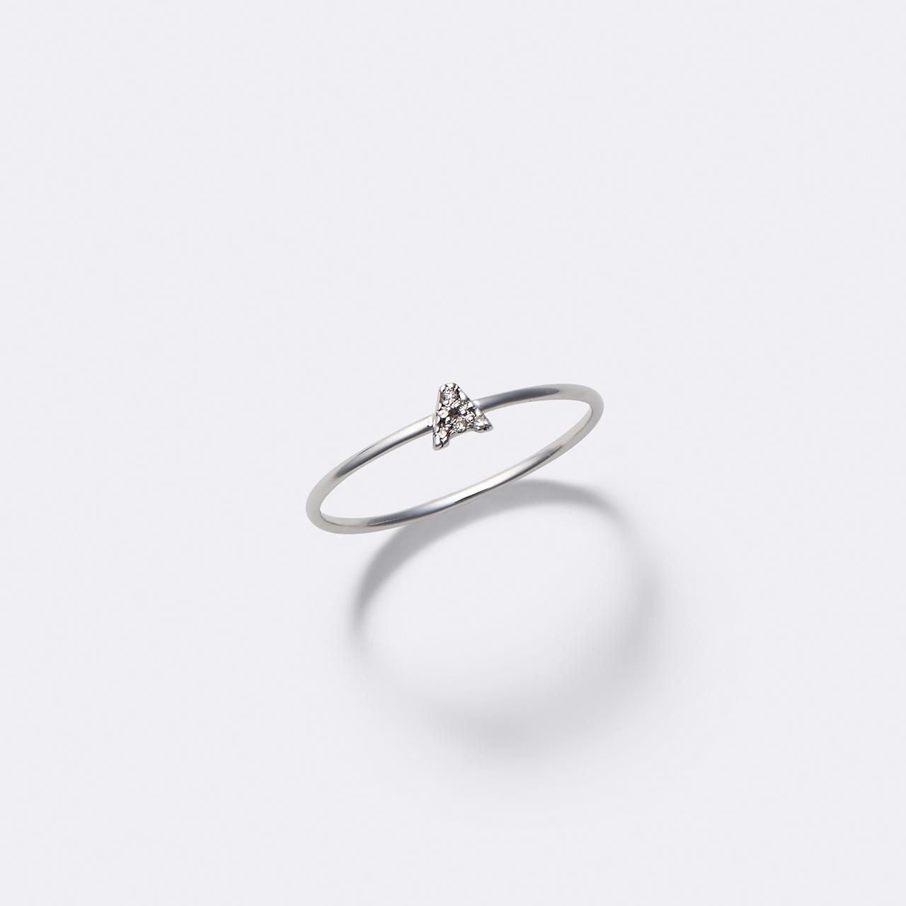 Initial Diamond Ring K10WG(イニシャルダイヤモンドリング K10ホワイトゴールド)