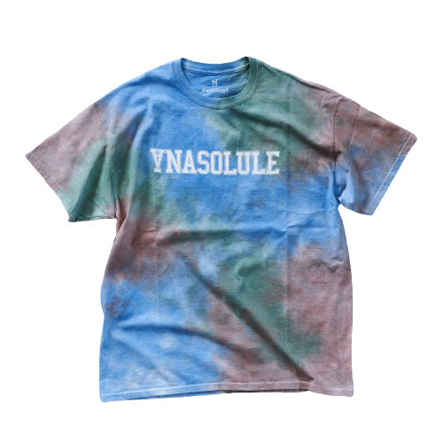 ANASOLULE/College Logo Tie Dye Tee【 Col. Fild 】