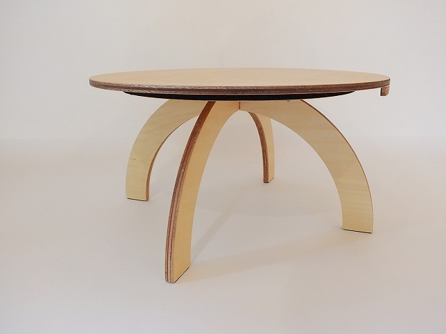 シナ合板テーブル