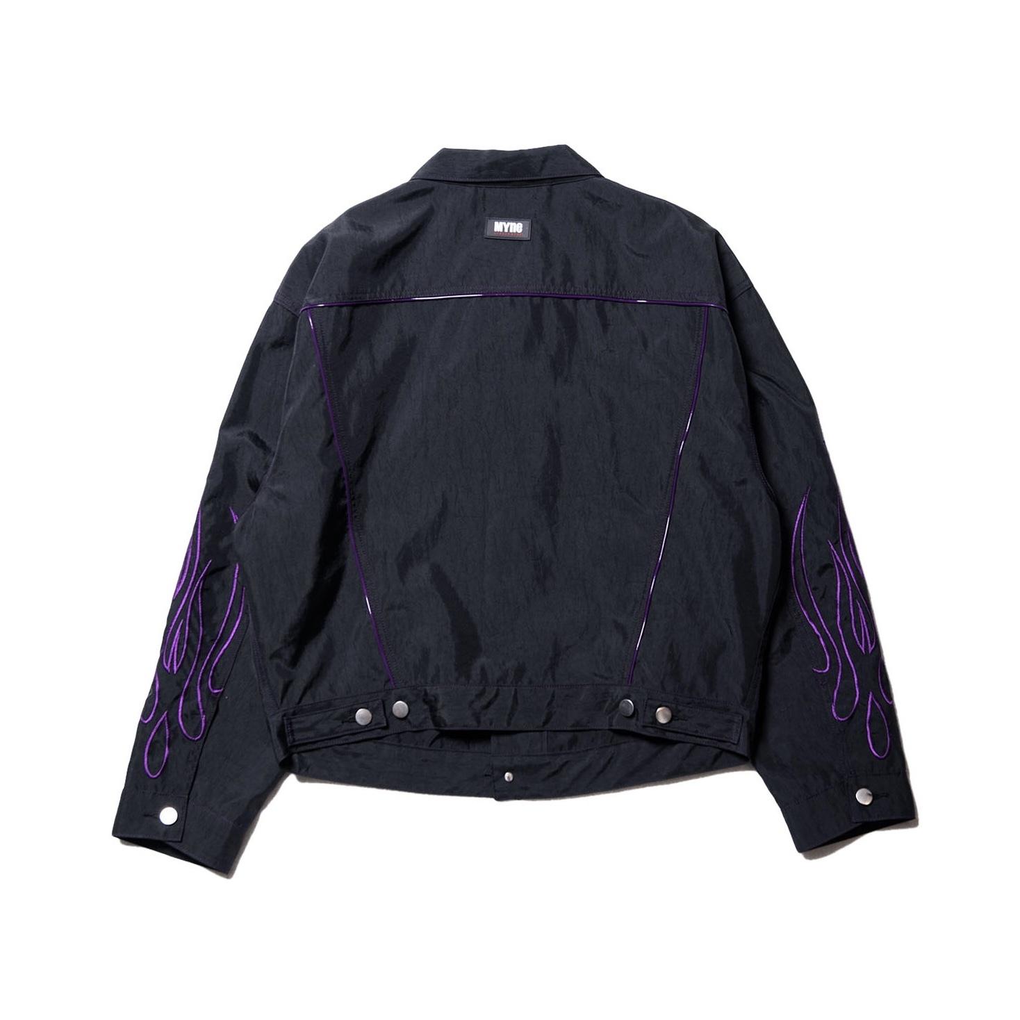 Fire nylon jacket / BLACK - 画像2