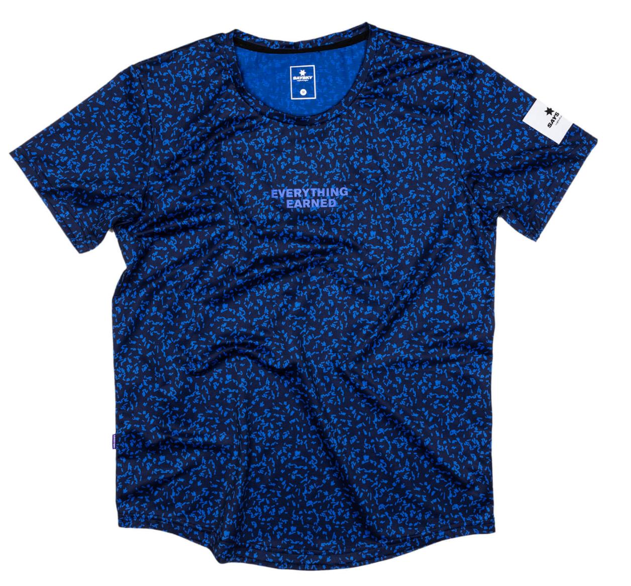 【10%OFF】SAYSKY セイスカイ ランニングTシャツ FTP Combat Tee - BLUE MICROBES PRINT [ユニセックス] FMRSS12 2021S New Arrival Running T-shirts Unisex