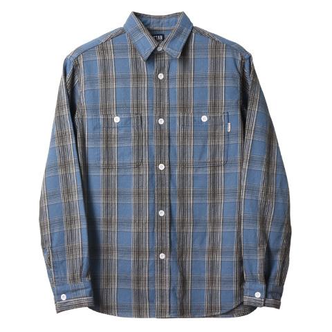 STANDARD CALIFORNIA #SD Flannel Check Shirt Blue