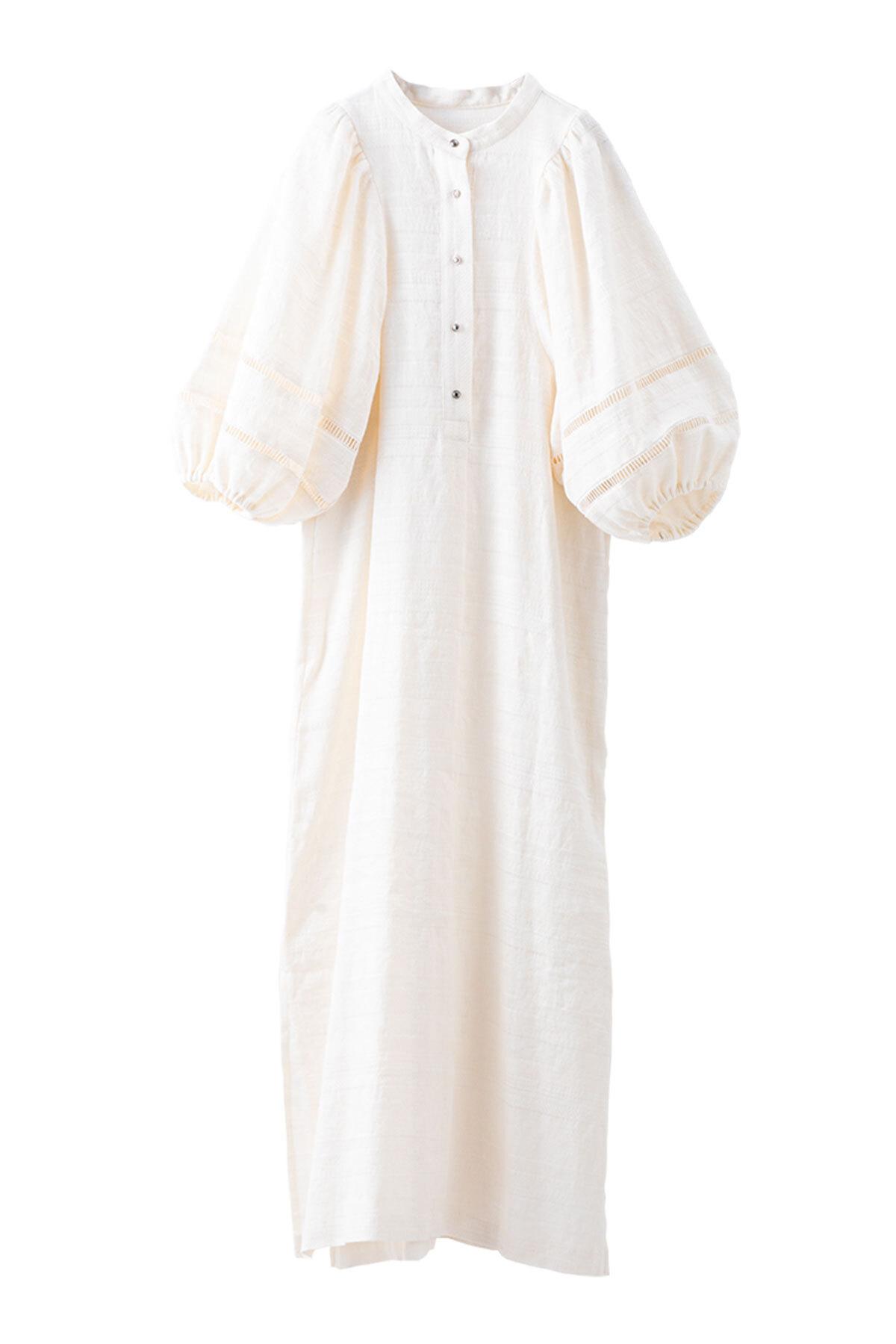 バルーンスリーブエスニックドレス <オフ>