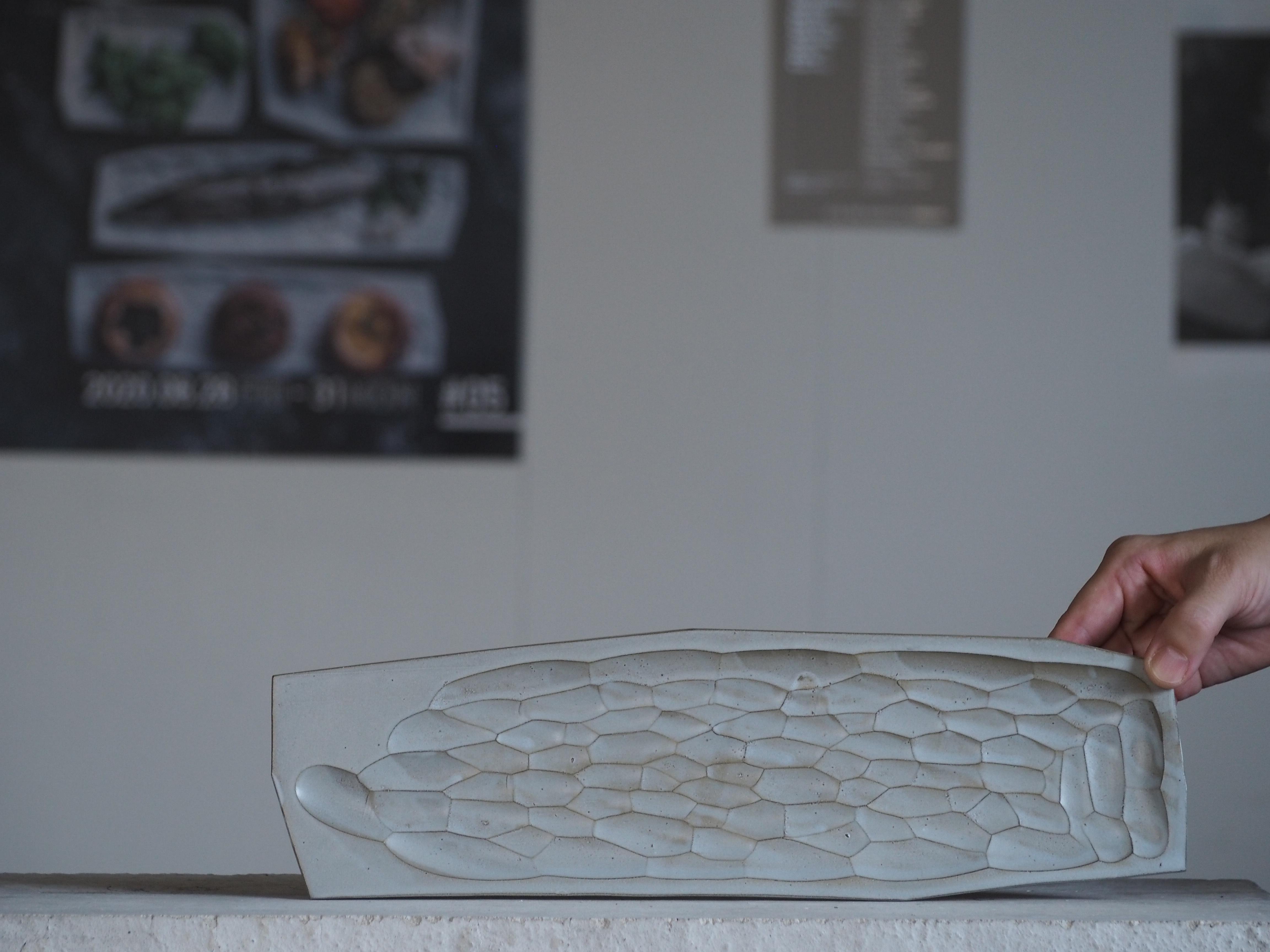 板皿 / ブルーグレー(釉) / M / 長型 No,83-11