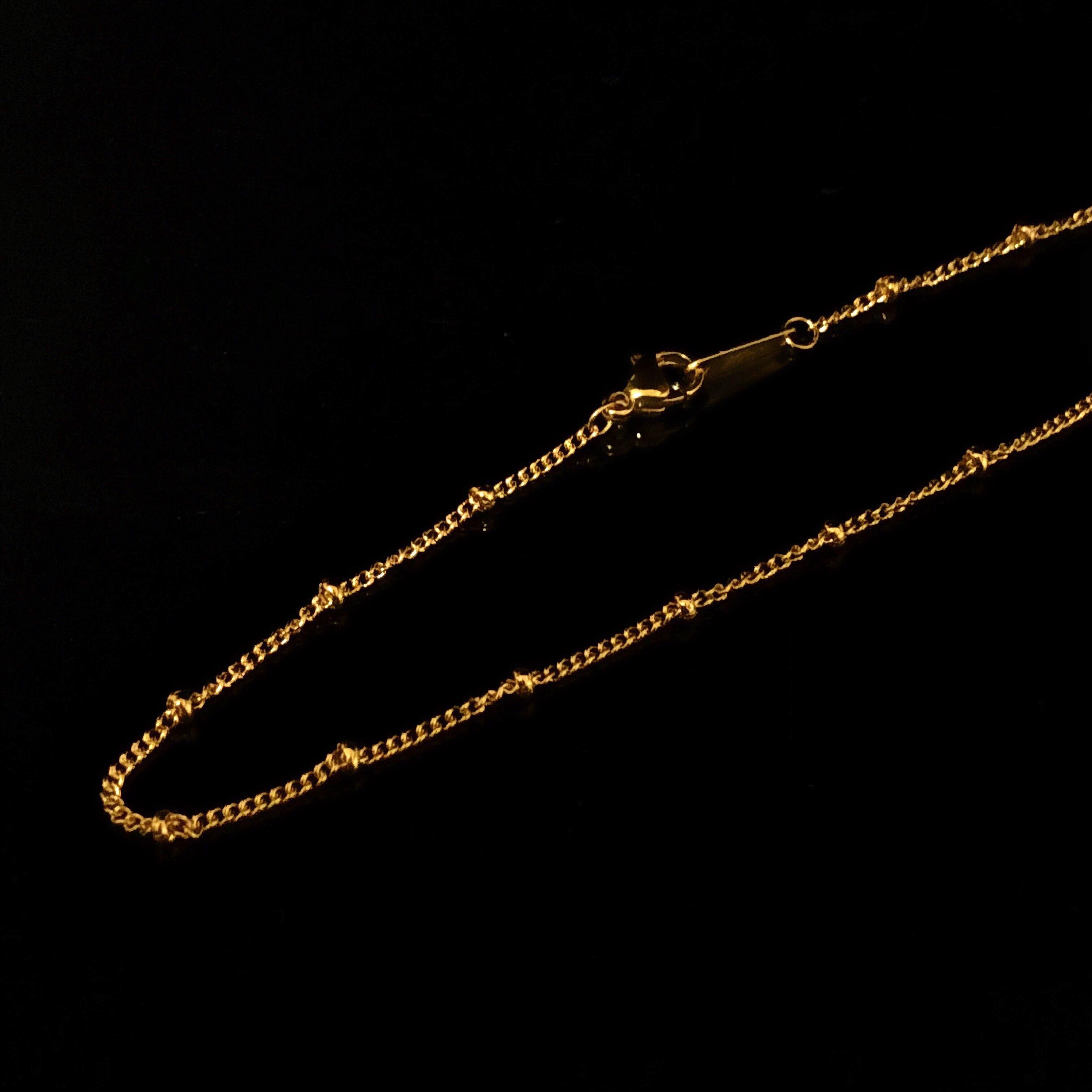 Crimp Bead chain 80cm