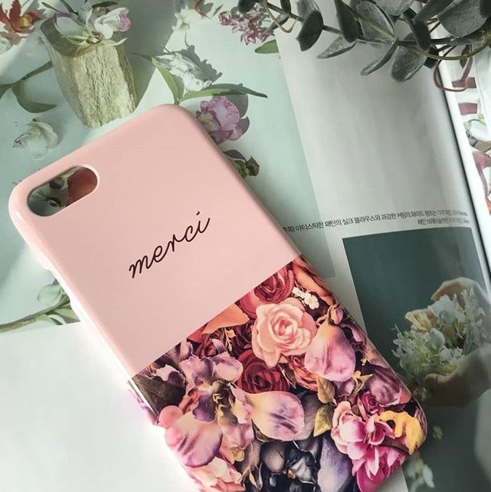 4e017e88f407 merciハードケース iPhoneケース スマホケース バラ 花 花柄 女子 可愛い ユニーク おしゃれ
