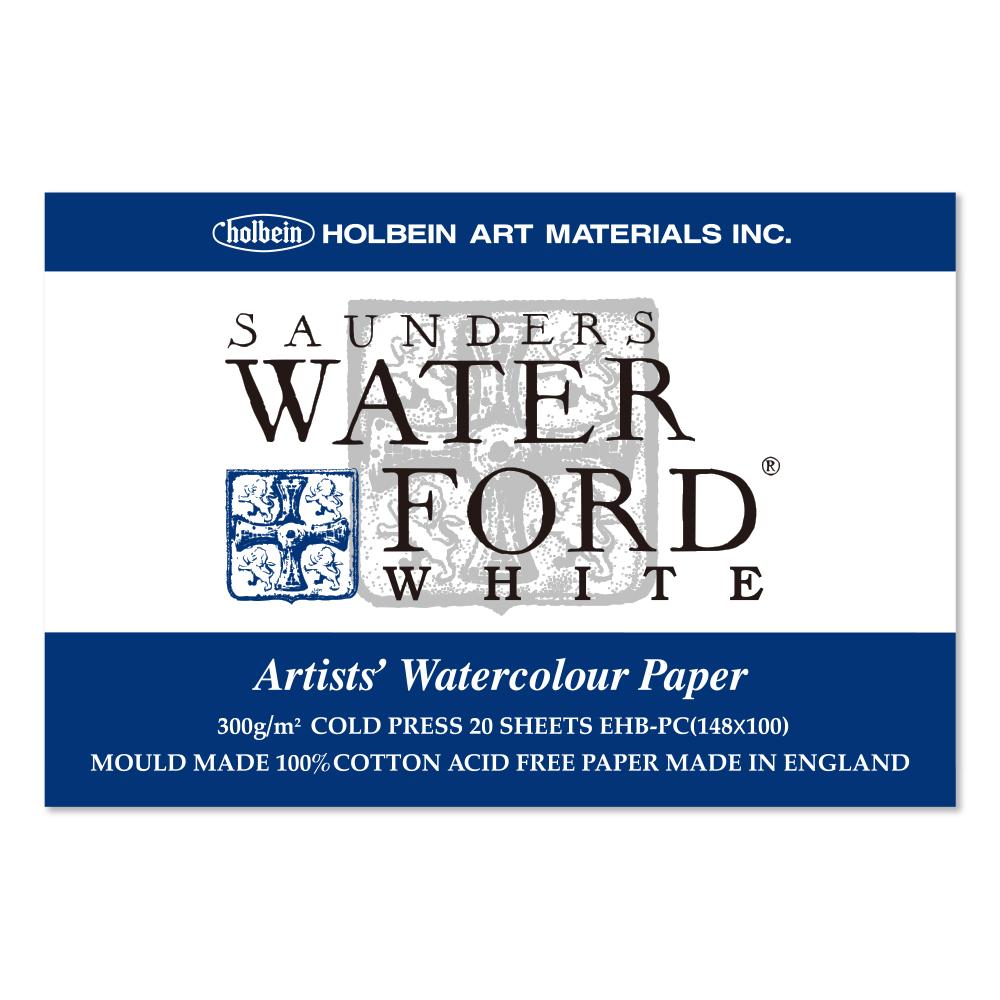 ウォーターフォード水彩紙 ホワイト ポストカード ブロック 300g 中目