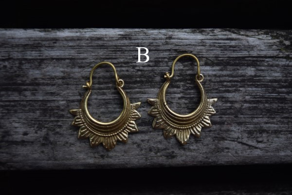 真鍮ピアス -mini- 【India】