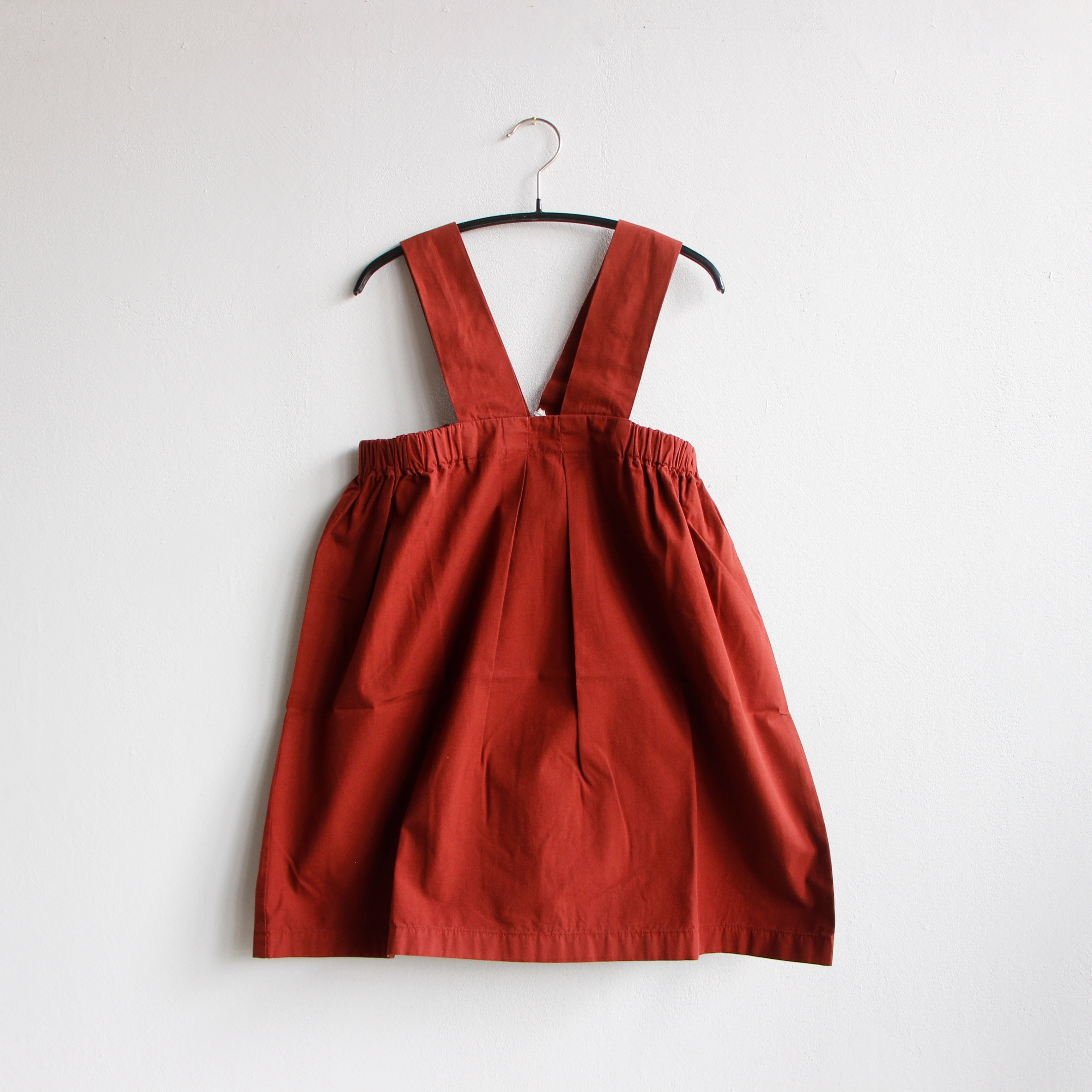 《main story 2020SS》Pinafore Dress / Burnt Henna