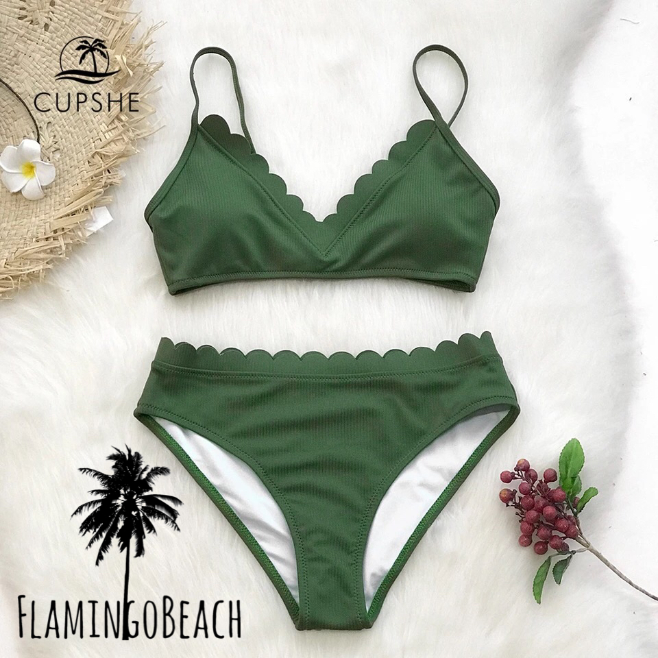 【FlamingoBeach】green marguerite bikini ビキニ