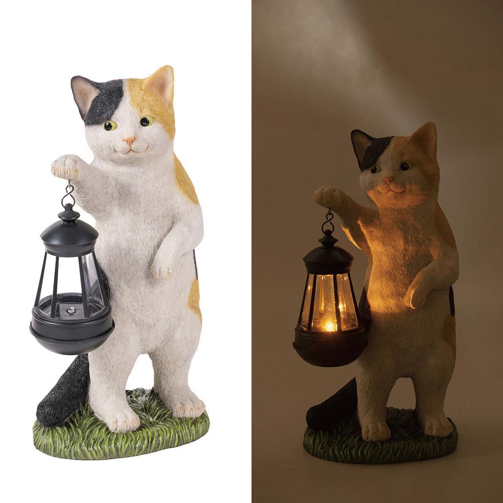 猫ソーラーオーナメント(CAT)ミケ