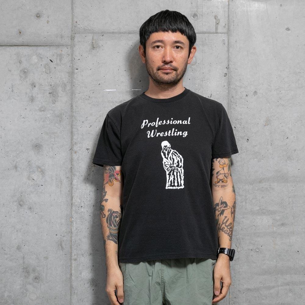 TACOMA FUJI RECORDS Professional Wrestling designed by Tomoo Gokita BLACK