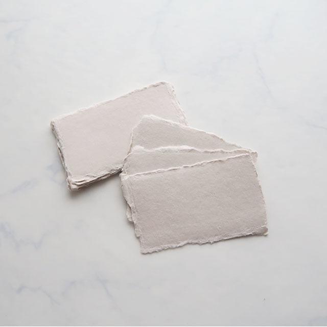 place cards white sand 5枚入り ハンドメイドペーパー カード 6 10 5