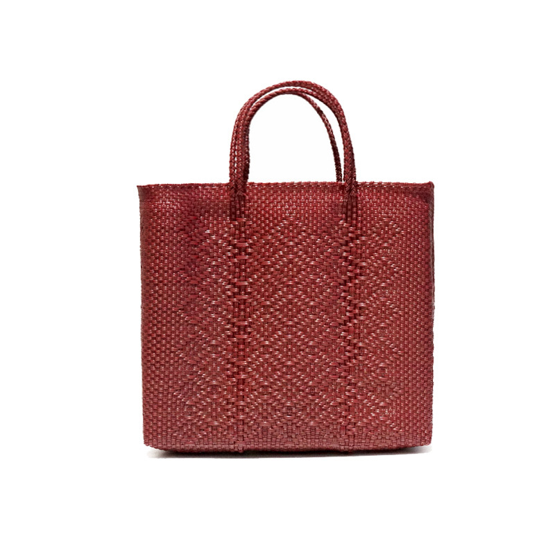 MERCADO BAG ROMBO-Dark Red(S)