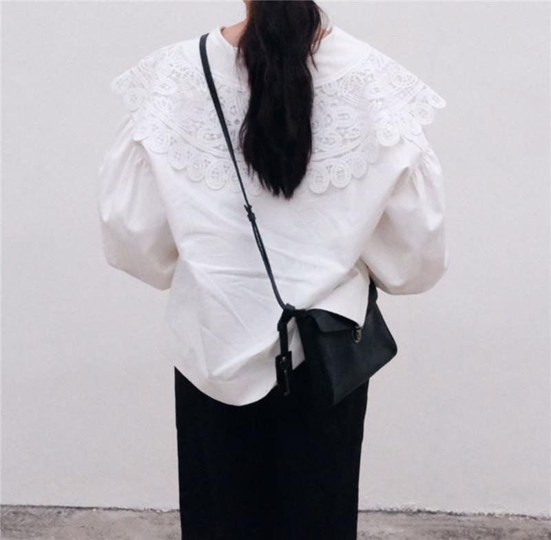 【お取り寄せ商品】big lace collar blouse R1123