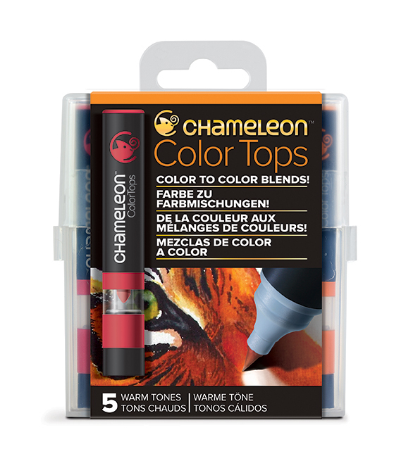 Chameleon Pen 5 Color Tops Warm Set (カメレオンペン 5本入りカラートップ ウォームセット)
