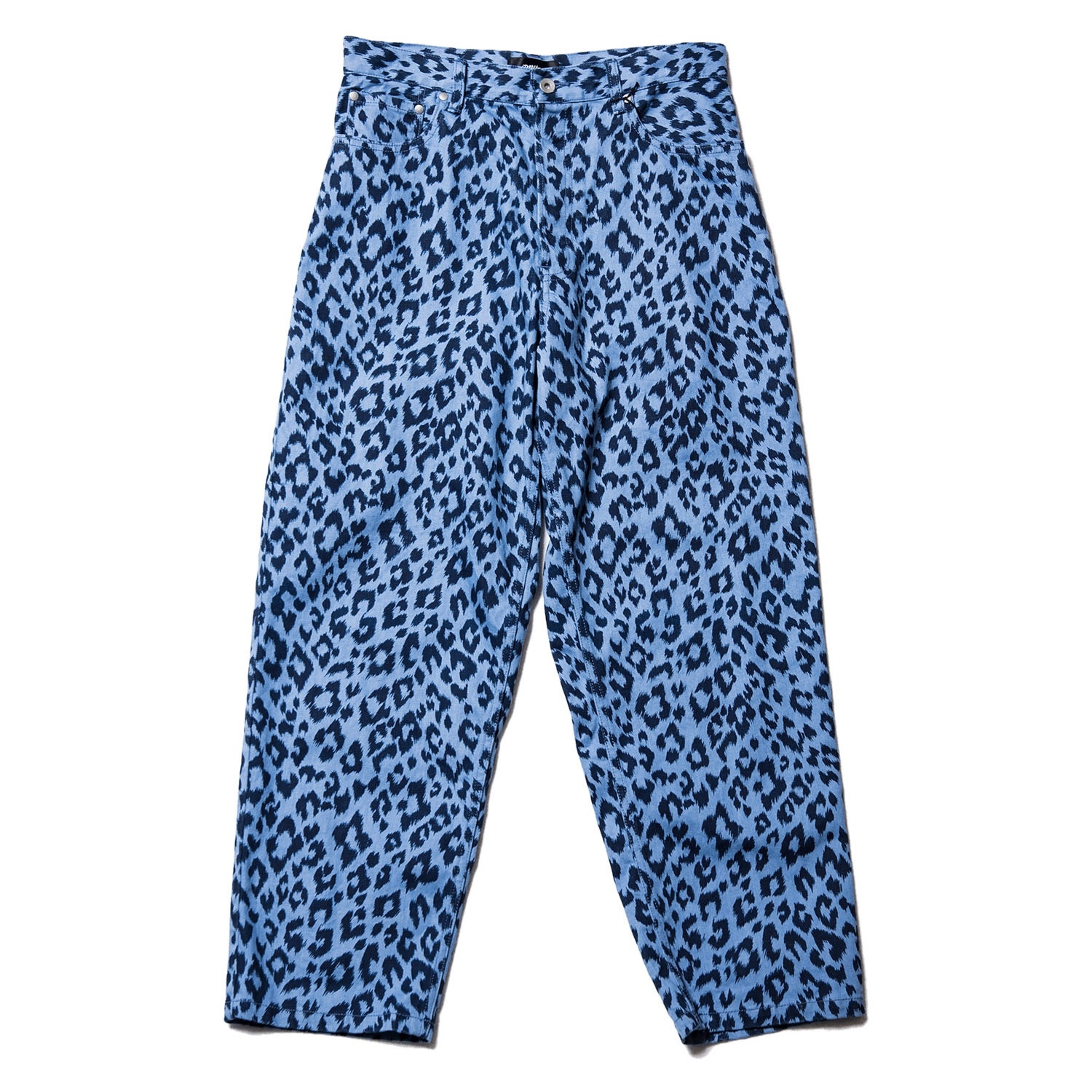 Leopard denim pants / INDIGO - 画像1