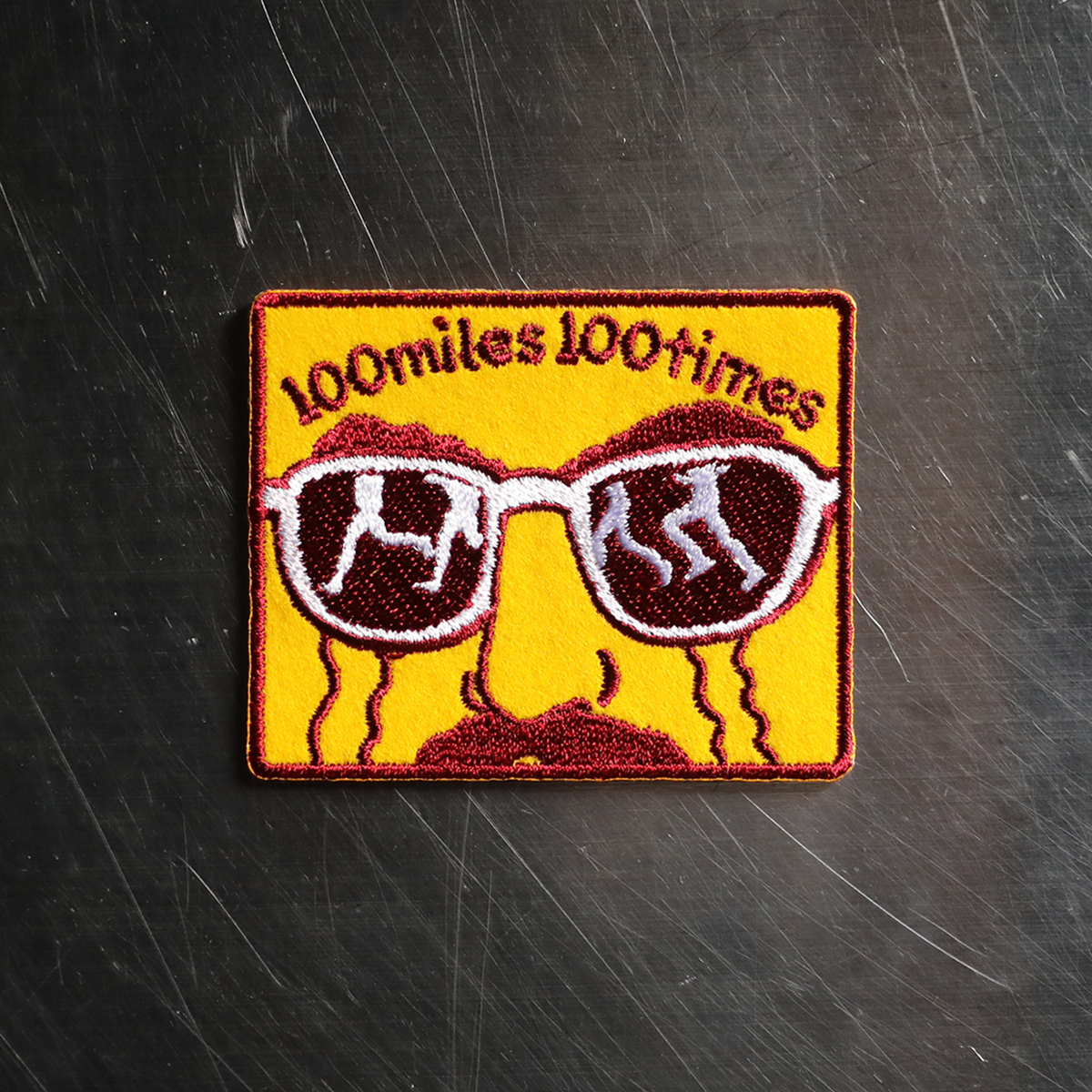 100miles 100times Patch by Jerry (Yellow)