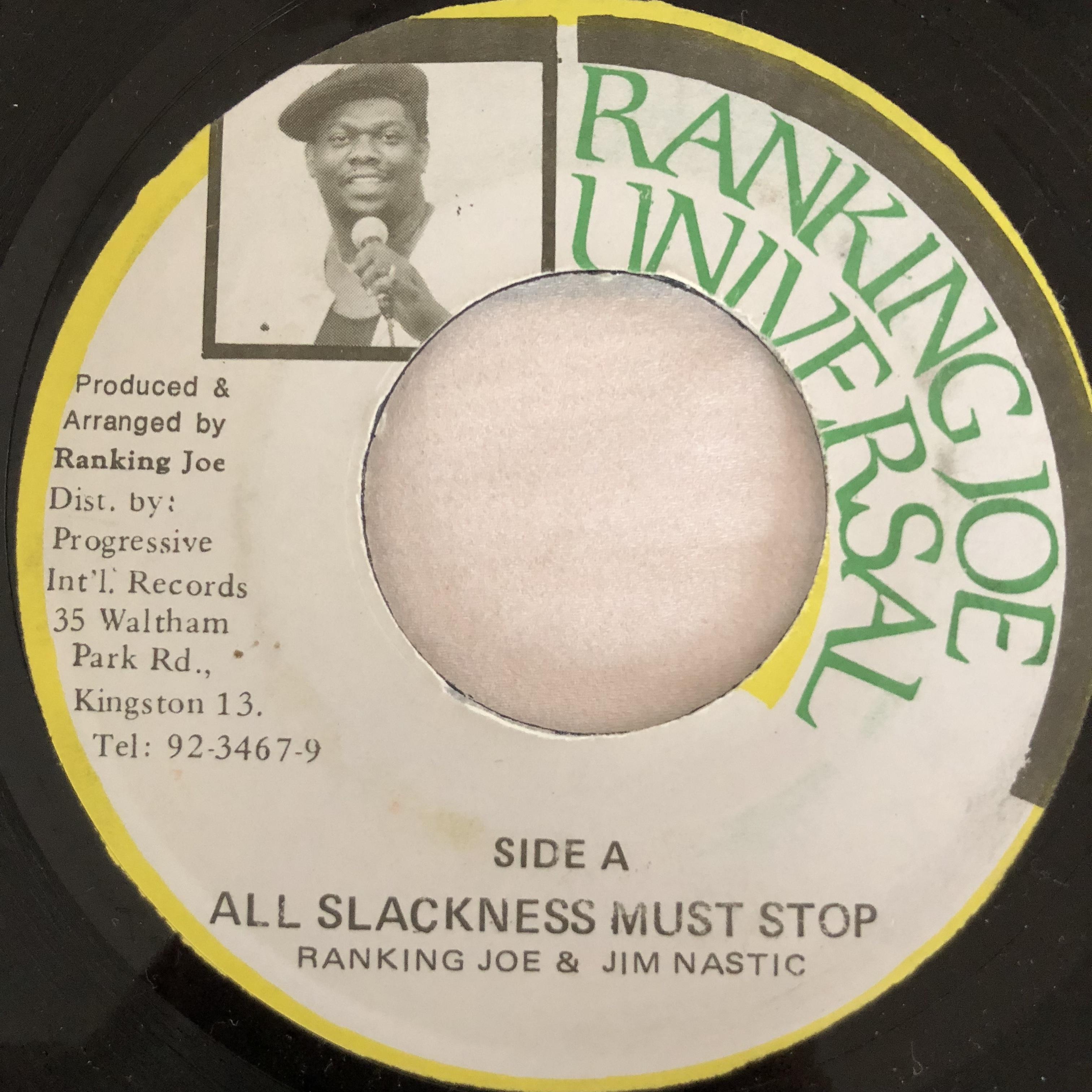 Ranking Joe(ランキンジョー), Jim Nastic(ジムスティック) - All Slackness Must 【7-10741】