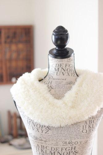 手編みのスヌード ホワイト/sakura型番:Z-15ホワイト