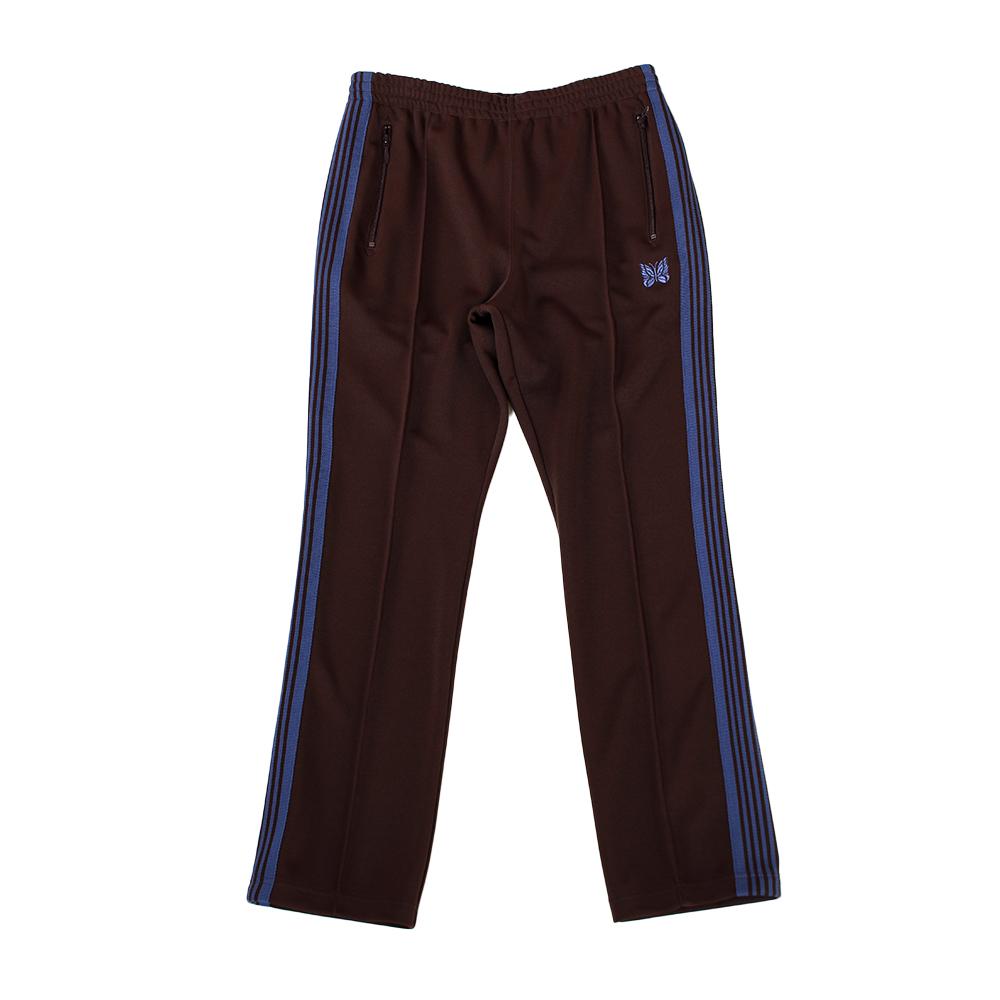 NEEDLES Narrow Track Pants - Poly Smooth Brown