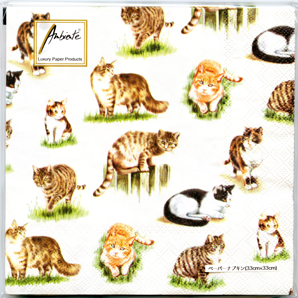 猫ペーパーナプキン(ネコいっぱい)