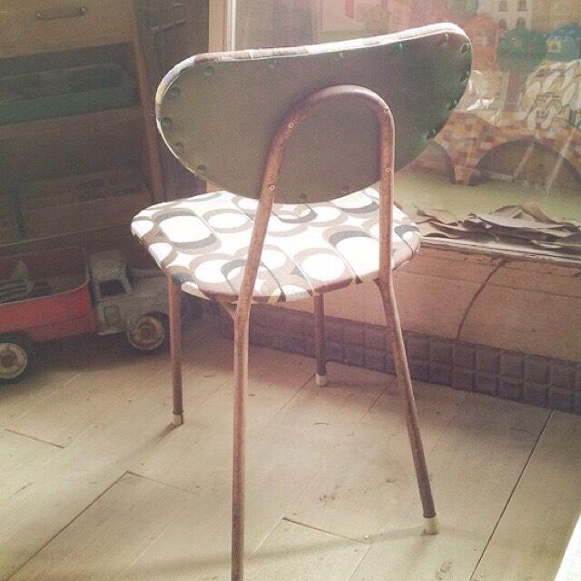 リメイク椅子 イエロー