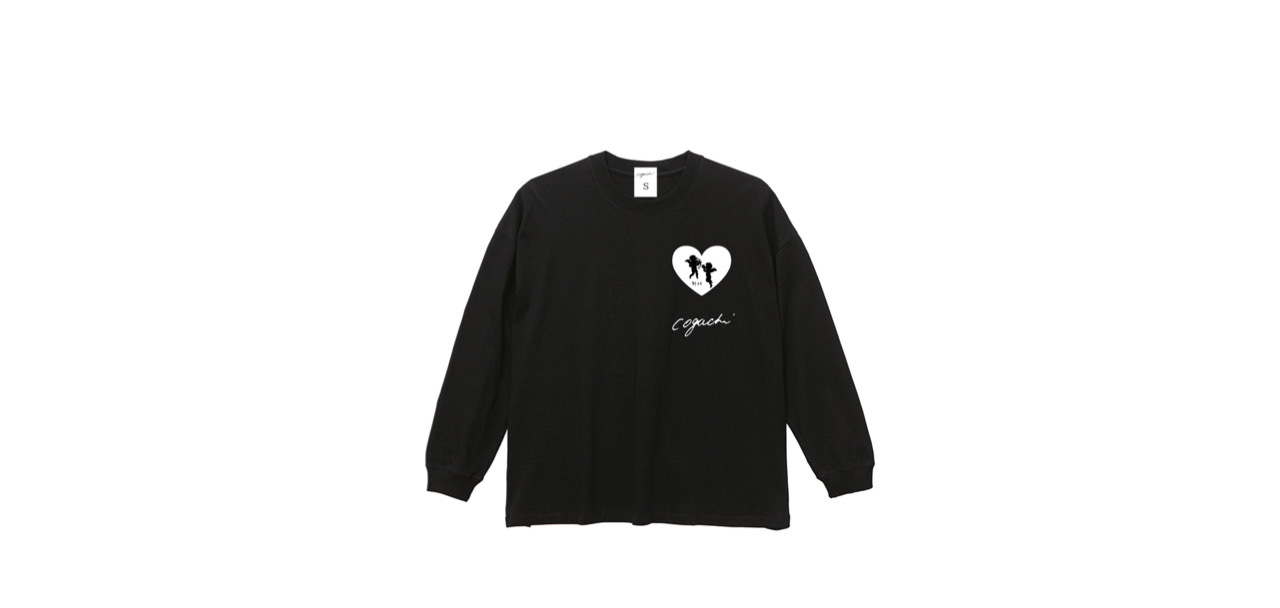 coguchi angel big long T-shirts (BK)