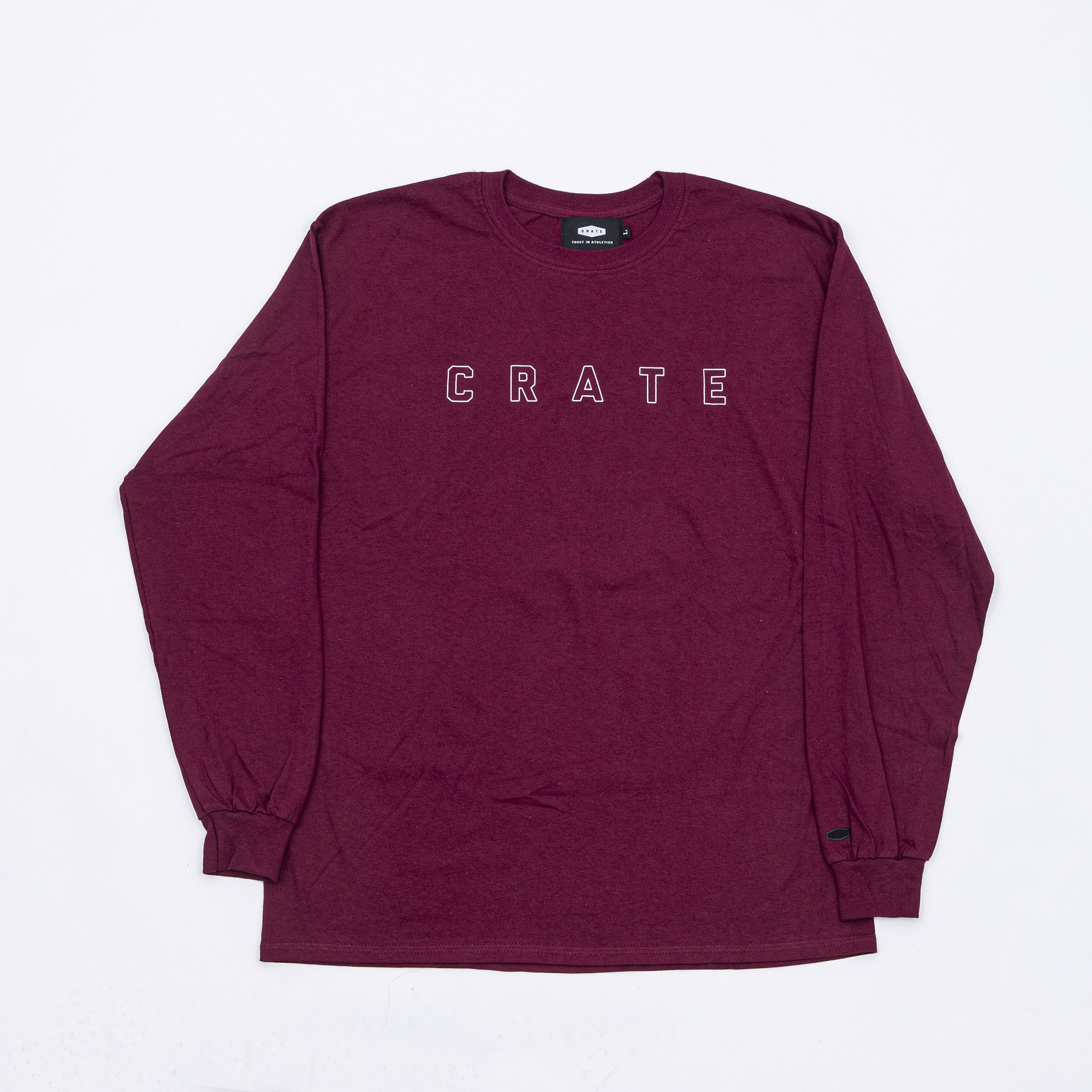 SIMPLE LOGO HOLLOW L/S Tee BURGUNDY