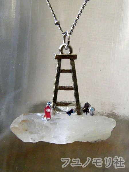 ネックレス - 星入り水晶の梯子 - フユノモリ社