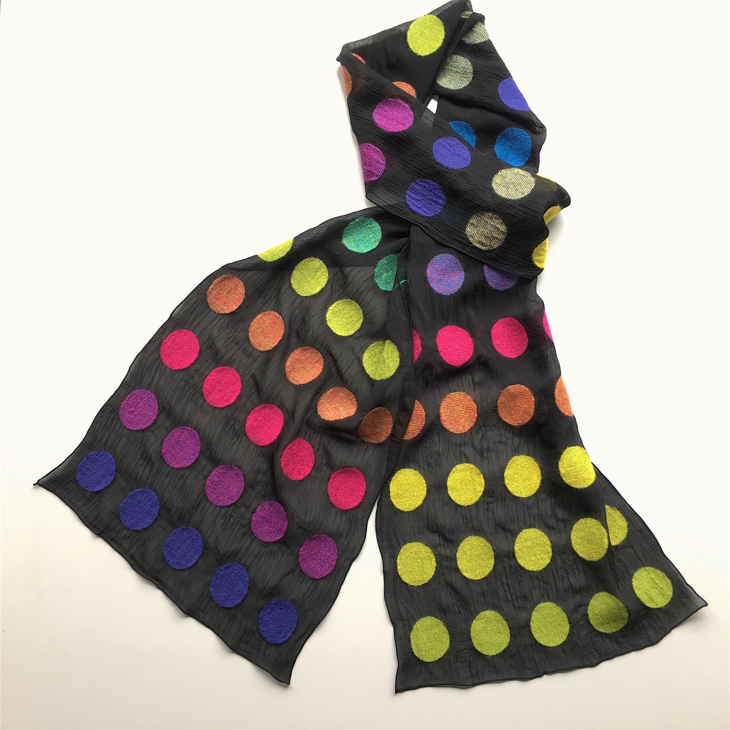 スカーフ ~DOT~ (レインボー)