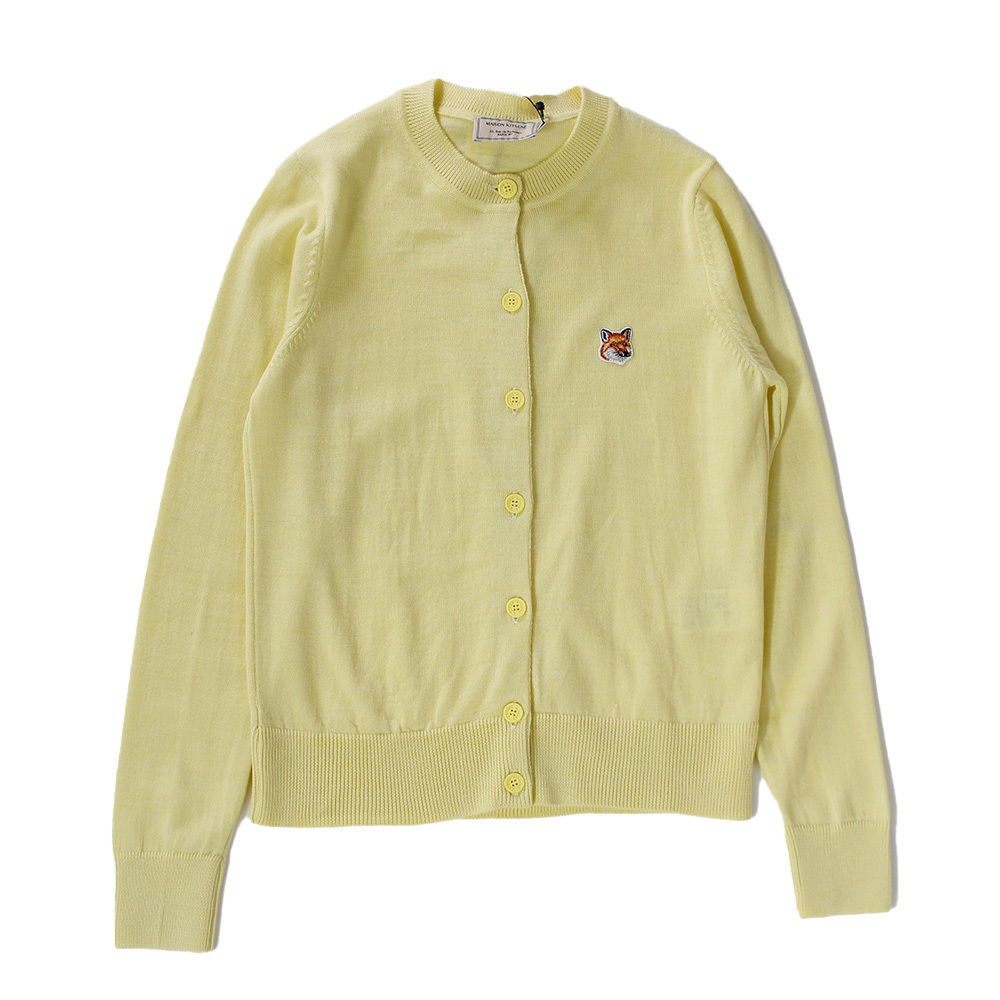 MAISON KITSUNE  Cardigan Yellow