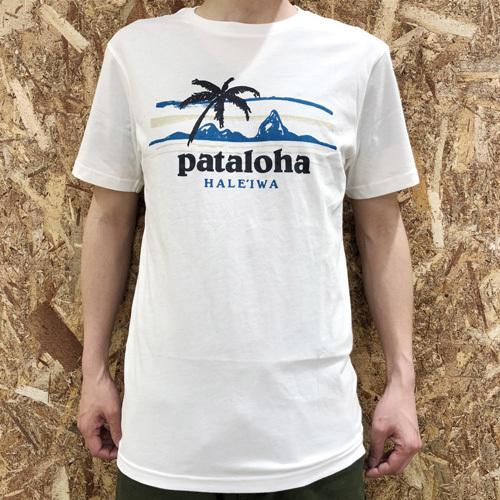 ハワイ限定 Patagonia (パタゴニア) pataloha (パタロハ) pataloha LOGO Tee Haleiwa限定 ホワイト