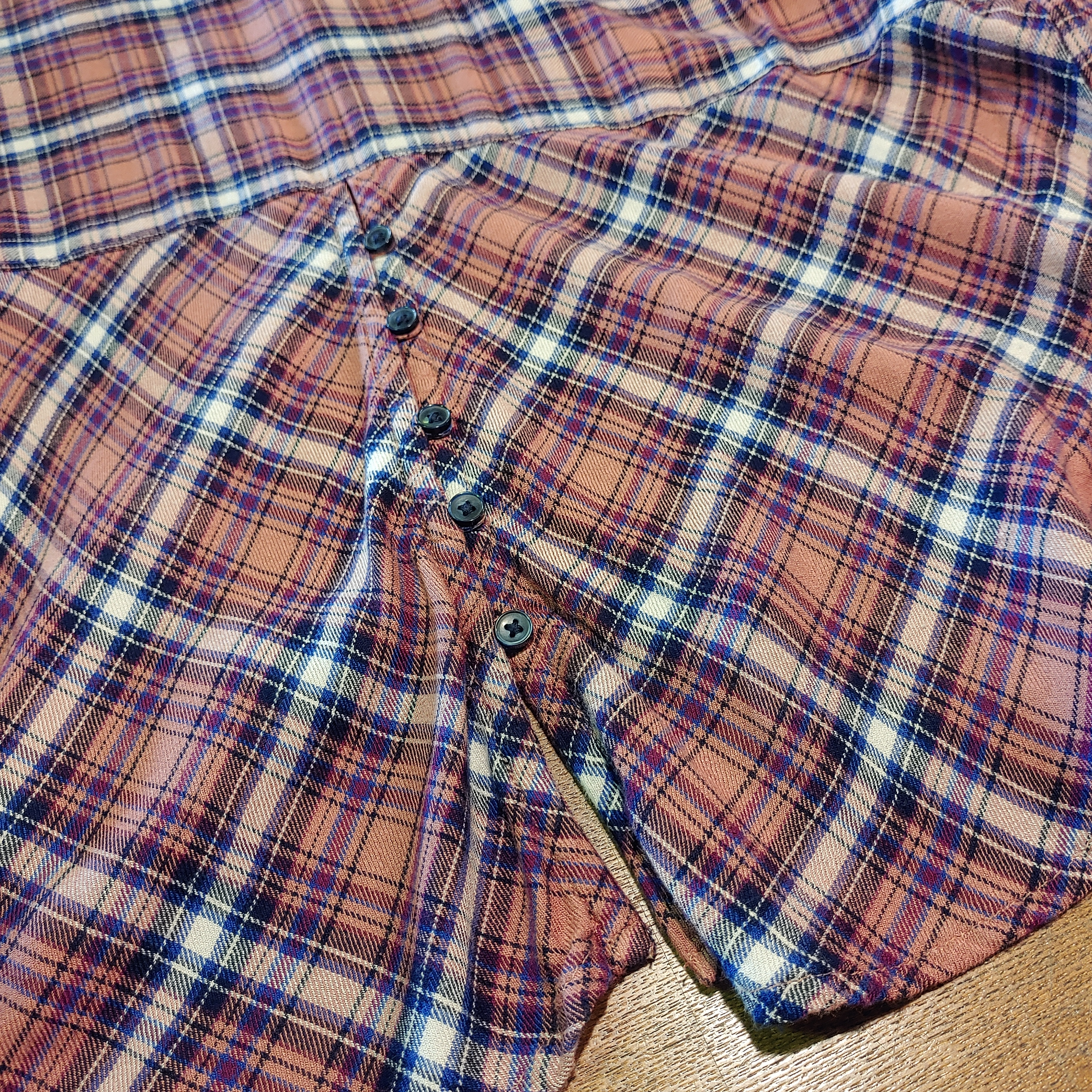 【USED】Lucky Brand L/S Check Nel Shirts