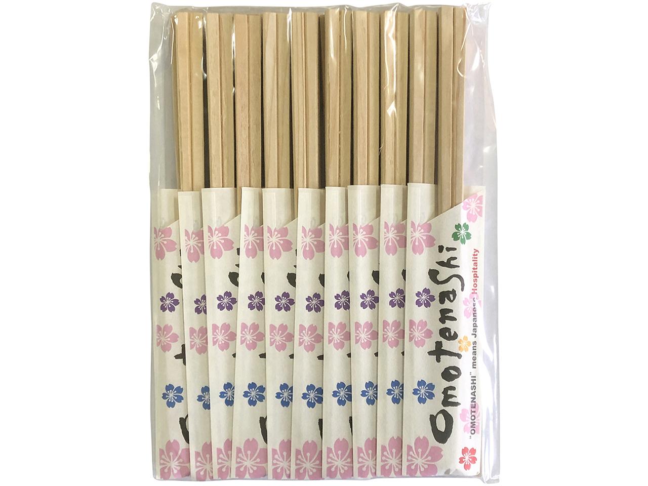 国産ヒノキの割り箸 「おもてなし箸 桧元禄20膳」 ポストIN発送対応商品
