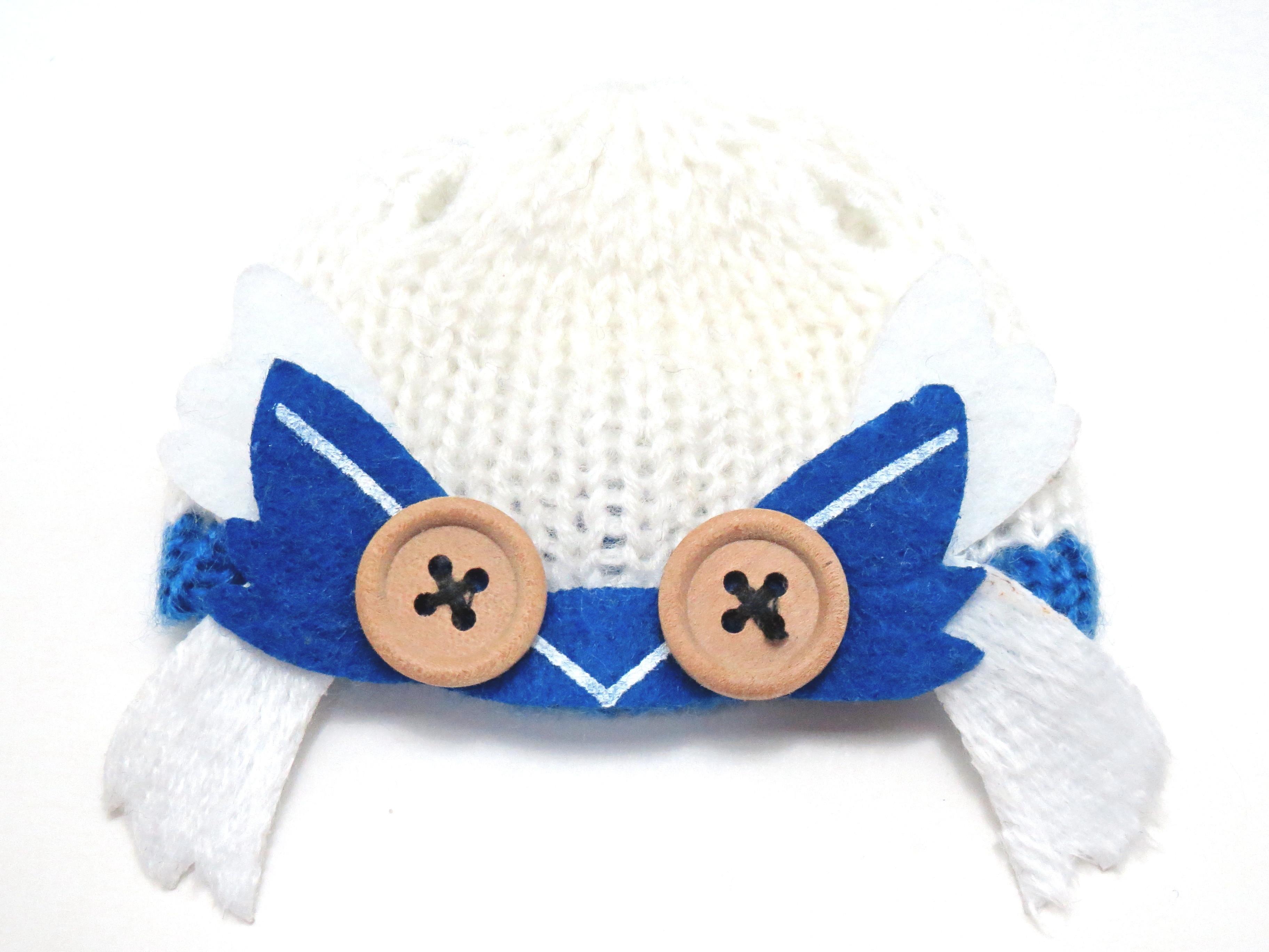 再入荷【570】 雪ミク Snow Owl Ver. 小物パーツ ニット帽 ねんどろいど