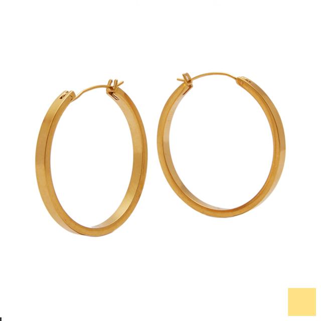 matte gold hoop pierce -M