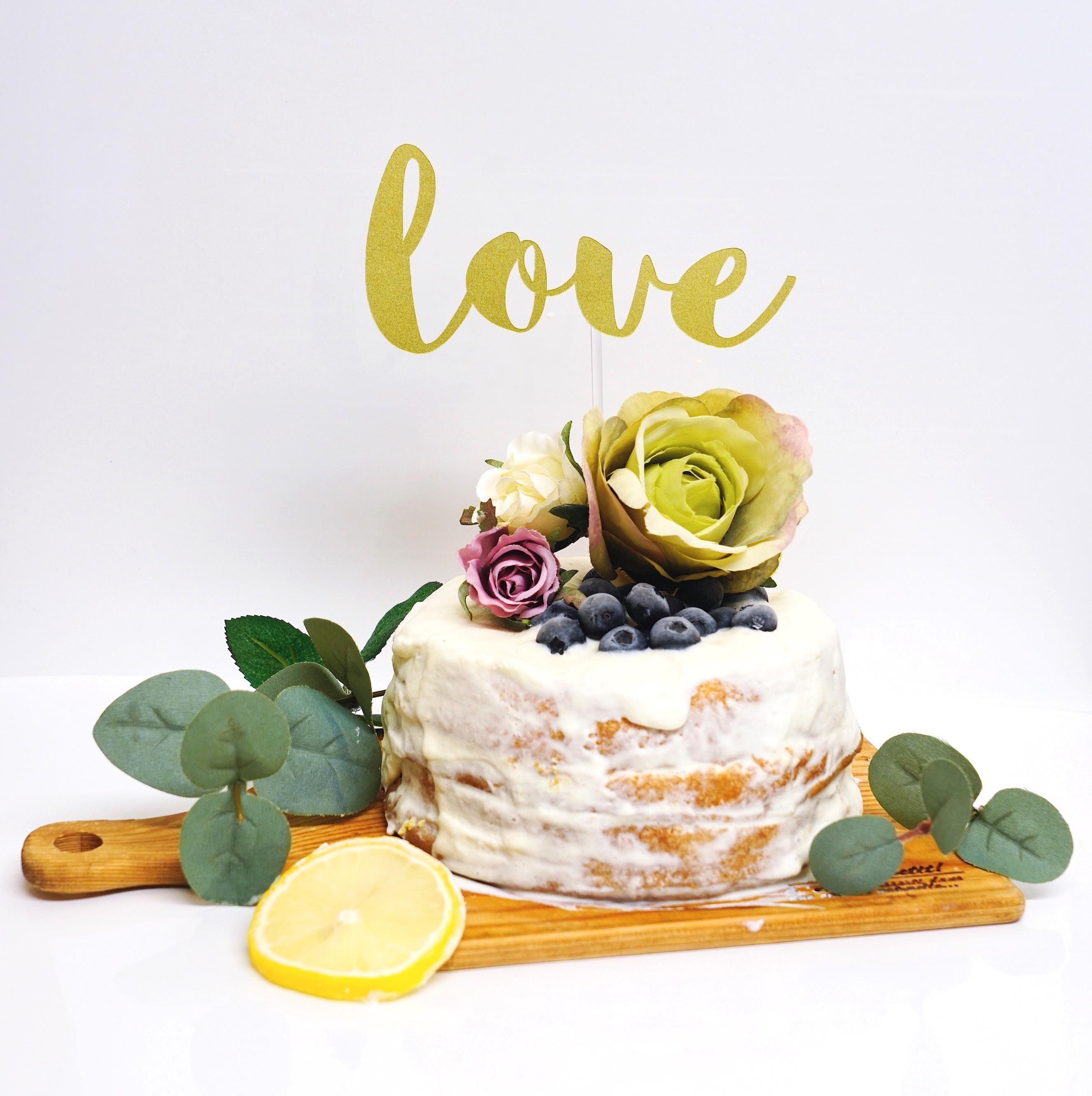 loveケーキトッパー  ウェディング 誕生日 結婚式 受付