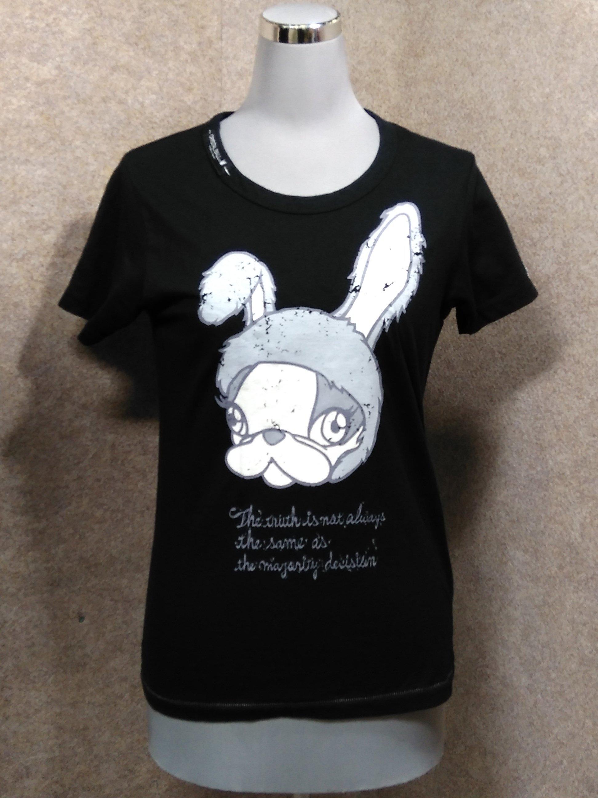クリスタルボール レディース Tシャツ 1 黒 y1083c