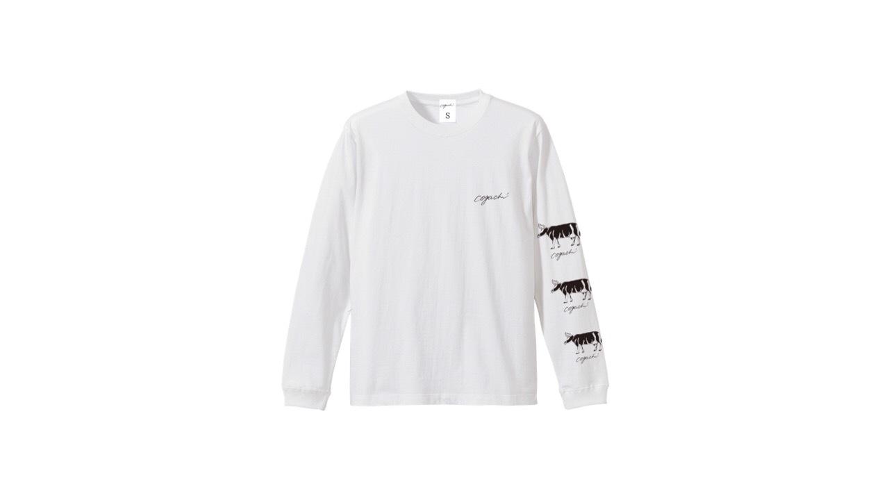 coguchi cow logo longTshirt (WH)