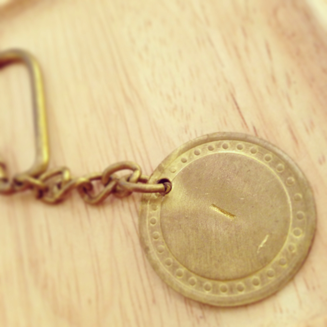 【solmu】真鍮アルファベットキーホルダー(I)