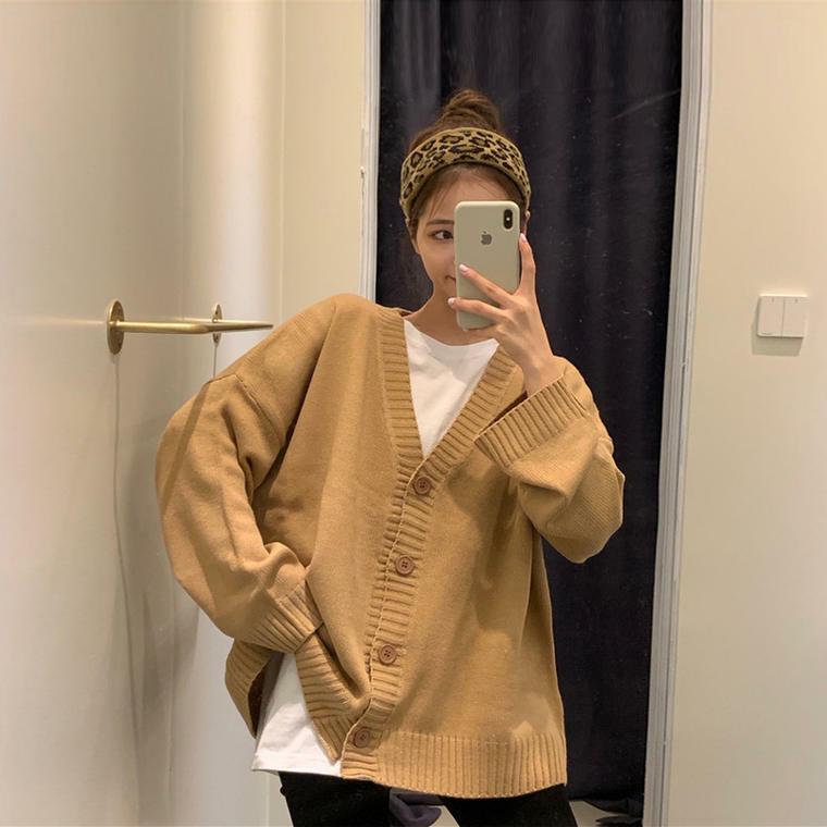 【送料無料】 こなれカーデ♡ オーバーサイズ ニット カーディガン 羽織り レトロ セーター ゆったり ビッグシルエット