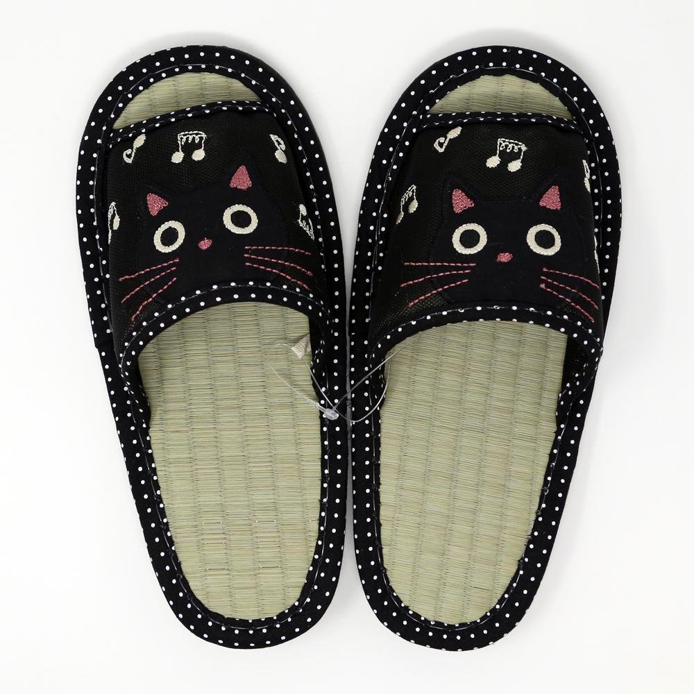 猫スリッパ(たまちゃんシースルー)ブラック