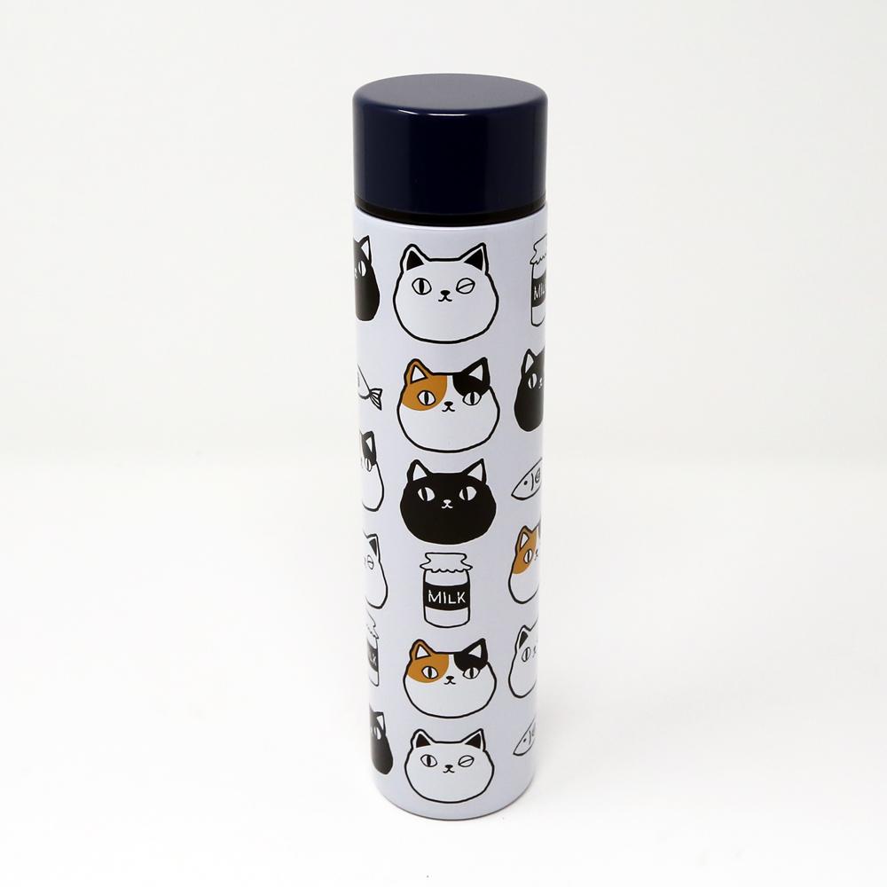 猫ボトル(ステンレスプチボトル猫三兄弟200ml)顔