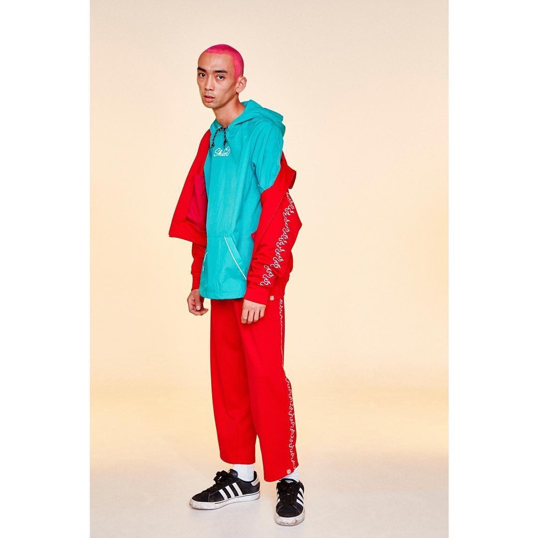 SKIN / nylon hoodie(blue) - 画像5