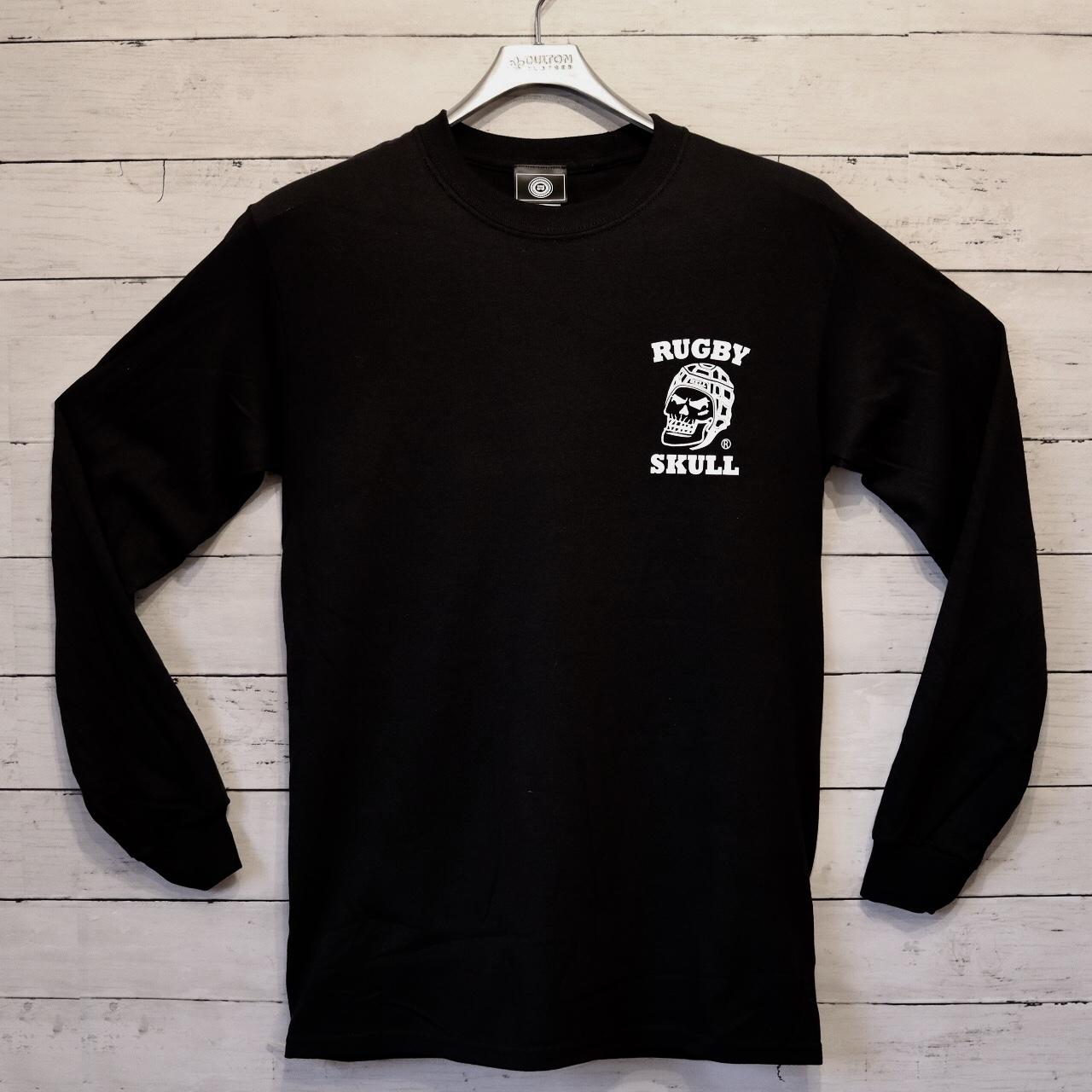 【YBC】RUGBY SKULL Back Print LongT-Shirt Black