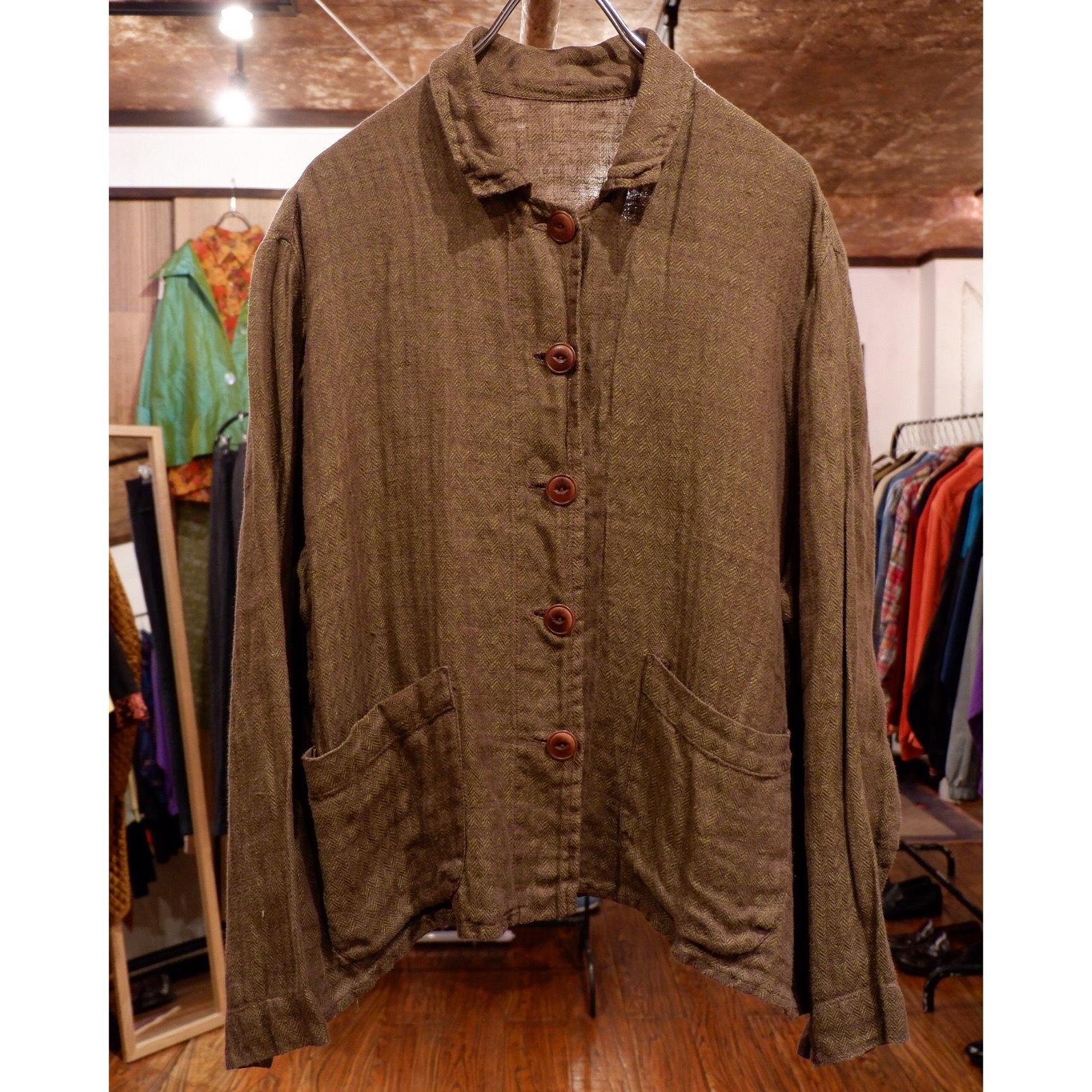 アメリカ古着 異素材 ショートジャケット
