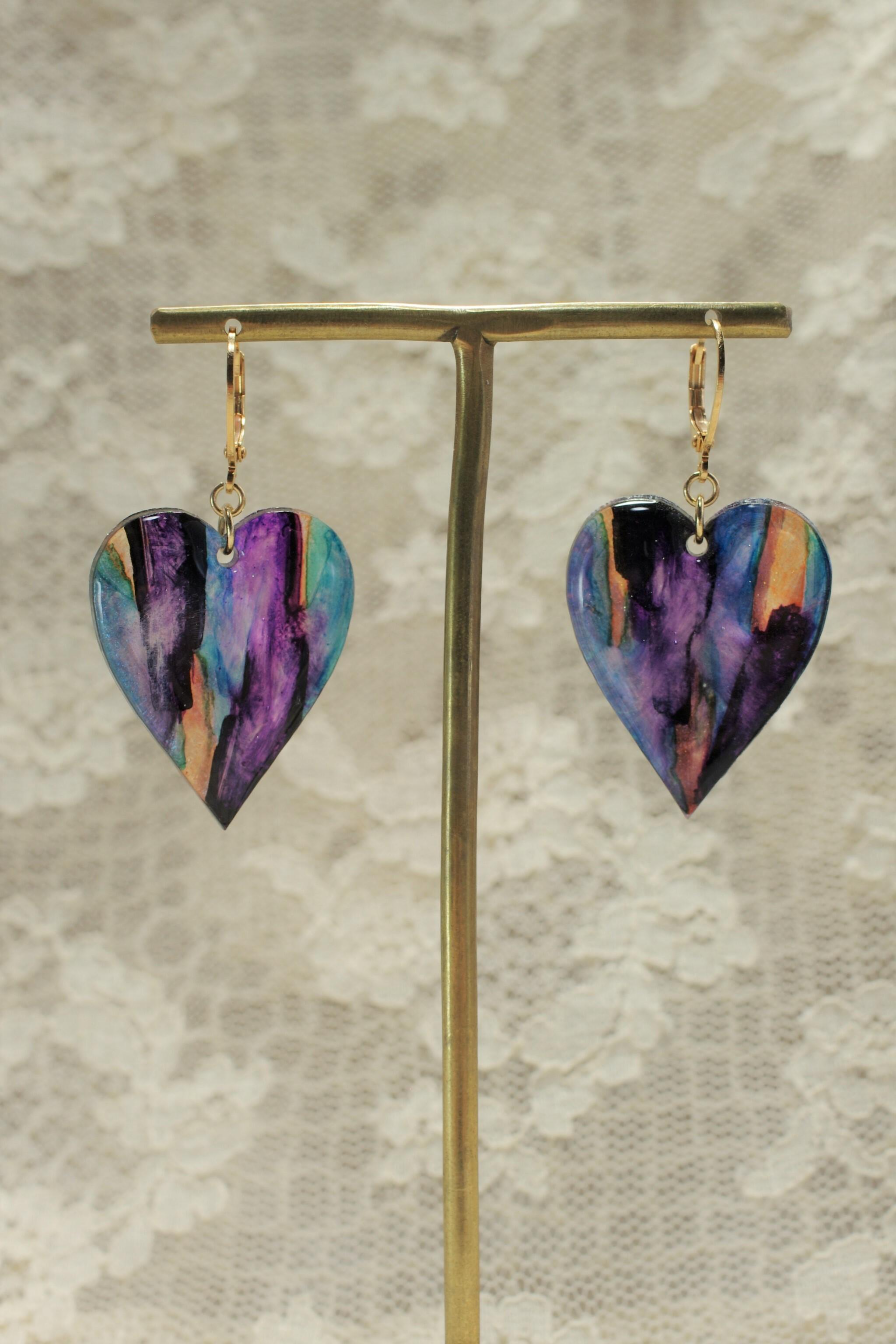 ♡  -purple- pierced earrings/raerrings